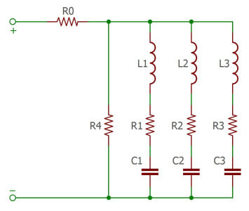 Ceramic schema - X7R & X8L Impedance